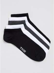 Assorted Colours Trainer Socks 5 Pack for £2.70 free C&C @ Topman