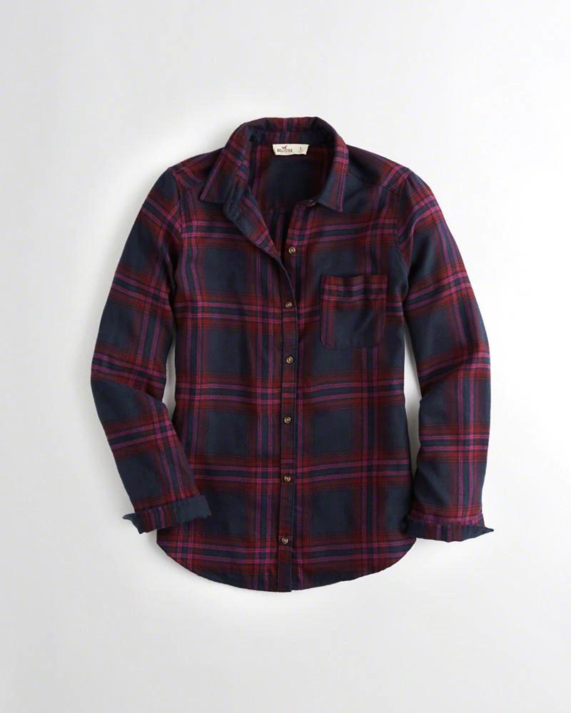 Hollister Oversized Flannel Shirt (Womans) £7.69 @ Hollister