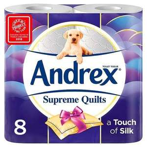 Andrex Supreme Quilts Toilet Tissue 8 pack @ poundshop - £1 + £4.95 delivery