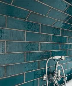 Lampas wall tiles cloud/grey/peacock/blue - half price - £19.14 per box @ Topps Tiles