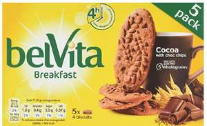 Belvita Cocoa with Chocolate Chips 225g - 79p @ Herons Food