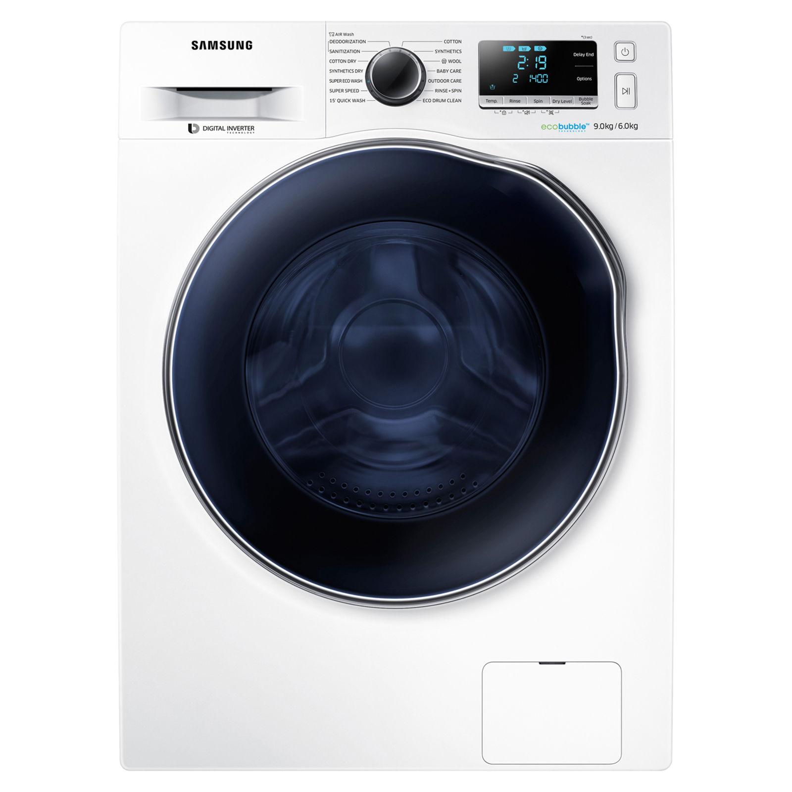 Samsung WD90J6A10AW Washer Dryer 9kg/6kg, 1400 RPM £513 w/code @ Hughes ebay