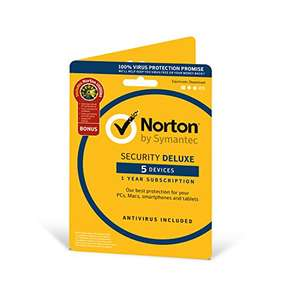 Norton Security Deluxe 2018 - £16.79 (Prime) £17.78 (Non Prime) @ Amazon