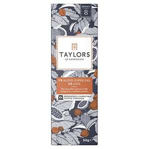 (Pack of 6, Total 60 coffee pods) Taylors of Harrogate Praline Especial Brazil, Rich Italian and  Cacao Superior Colombia Nespresso Compatible Coffee Capsules, 10 capsules - £12 (Prime) £16.49 (Non Prime) @ Amazon