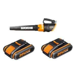 WORX Turbine leaf blower FREE with puchase of 2x WORX 20vMax 2AH Li-ion batteries direct from positecworx (importer) on ebay.  3 year warranty too! - £49.99
