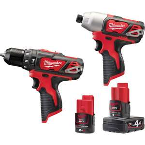 Milwaukee M12 Drill and Driver, 4.0ah & 2.0ah Batteries, Charger and Case £179.98  @ ToolStation