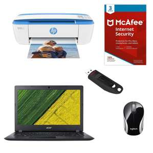 Acer Aspire 3 Laptop with HP AIO Printer, Logitech Mouse and 16GB SanDisk USB Stick Bundle - £269.10 Delivered using code @ Office Outlet