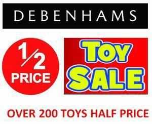 Debenhams toy sale -  up to 75% off