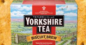 Box of 40 - Waitrose - Yorkshire Tea - Biscuit Brew - tastes of Rich Tea biscuits and Tea, lush £1.50 @ Waitrose