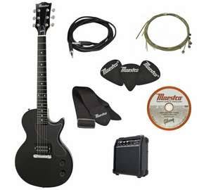 maestro by gibson full size electric guitar w amp accessories argos free c c. Black Bedroom Furniture Sets. Home Design Ideas
