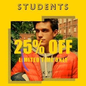Student discount 25% off on full priced items @ Jack Wills