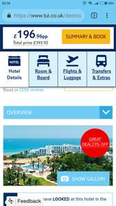 4* All inclusive 1 week to Tunisia from London Gatwick - £197pp based on two @ Tui