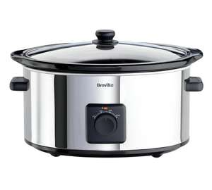 Breville ITP138 5.5L Slow Cooker - Stainless Steel - £24.99 + Free C&C @ Arogs