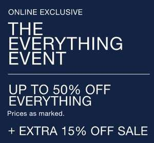 UPTO 50% OFF EVERYTHING @ GAP + 15% OFF WITH CODE MOREGAP (Sale items included) online exclusive