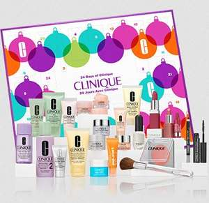 24 days of Clinique Advent Calendar £76 + free make up bag and six samples plus 2 full size products with code @ Clinique +9%TCB