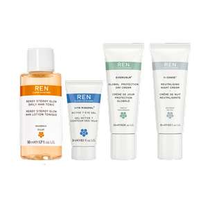 REN Clean Skincare Vegan Skincare Starter Sets with 3 free travel-sized minis for £10 and free delivery with code CLEANSTART