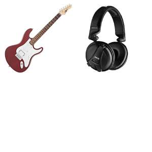 *Gear4music Clearance* B-Stock LA II Electric Guitar HSS Trans Red W/ AKG Open Box Headphones £97.97 Delivered