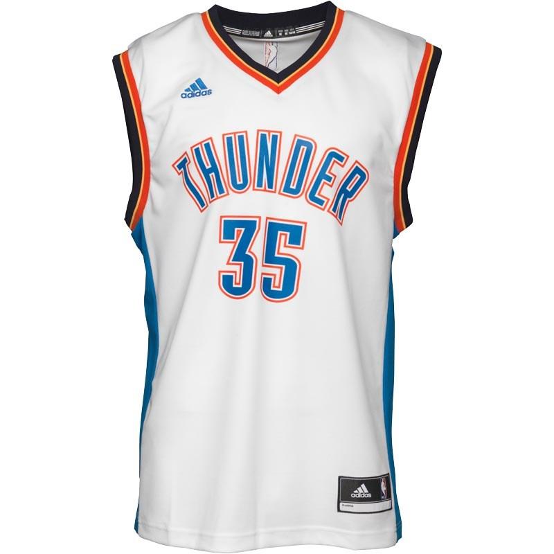 adidas Mens Oklahoma City Thunder Durrant Swingman Jersey White - £9.99 @ MandM Direct (+£4.99 P&P)
