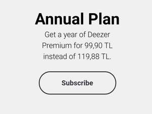 EVEN CHEAPER THAN ORIGINAL DEAL! Deezer Premium Only £12.33 for 1 year/£1.03 per month