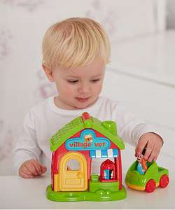 Extra 15% Off Clearance Toys @ ELC eg Happyland Village Vet was £18 now £7.65 / Big City Gravity Loop was £15 now £5.10 / Vtech Alpha-Gator was £19.99 now £9.99