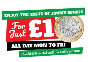 Jimmy Spices buffet Birmingham 2nd person can dine £1 Mon - Fri