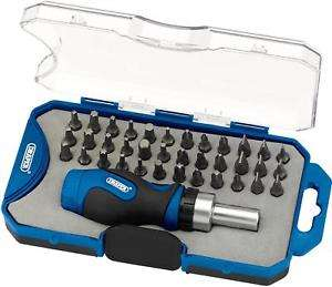 Draper Ratchet Screwdriver Bit Set 37 Pieces - £7 + Free C&C @ halfords eBay