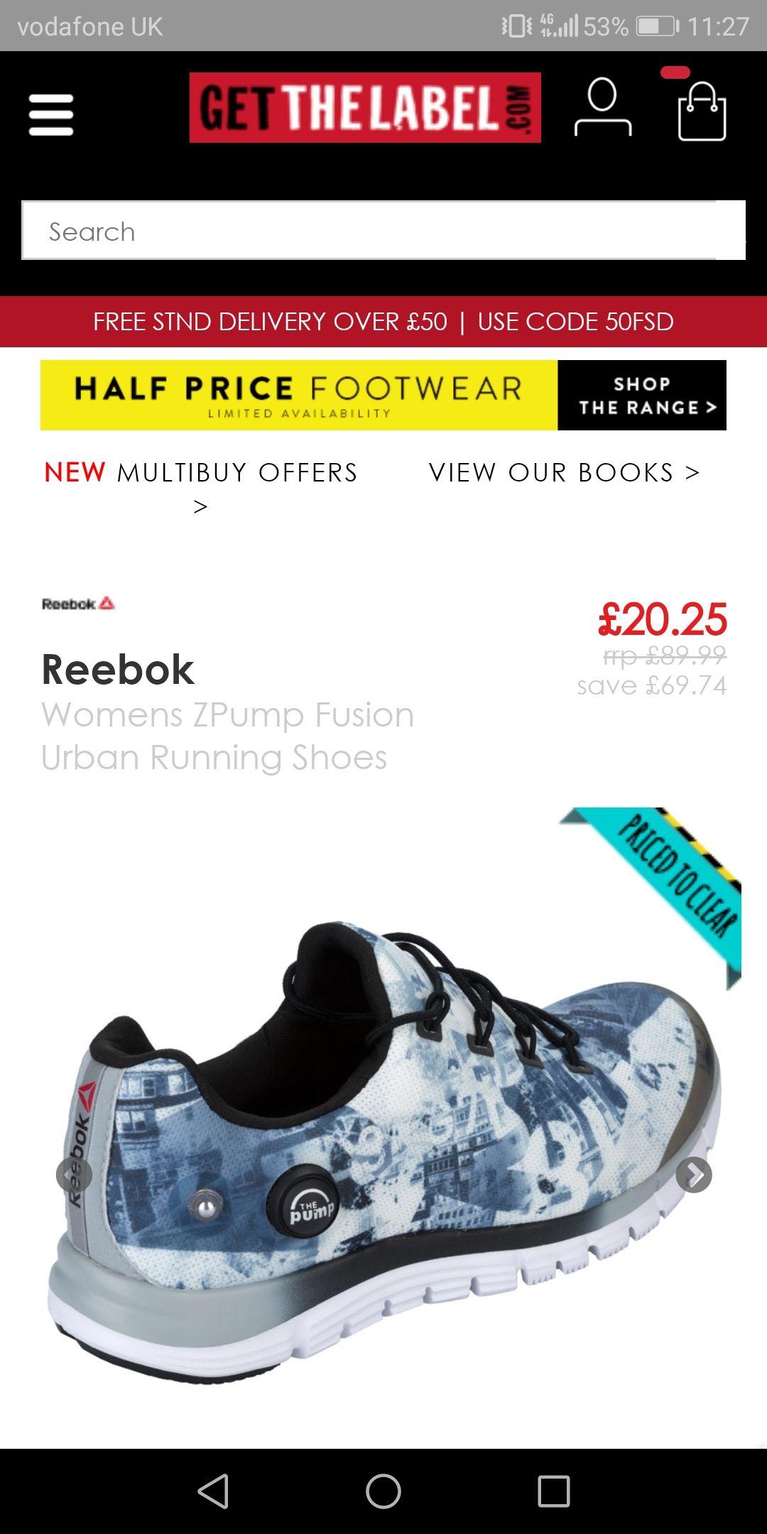 Reebok women's zpump fusion urban running shoes @ getthelabel.com