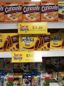 Curiously cinnamon breakfast bars 6pk @ homebargains prenton / wirral - £1