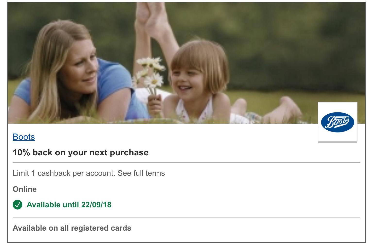 Nationwide Simply Rewards Visa offers. 10% cashback on online orders. Boots.com