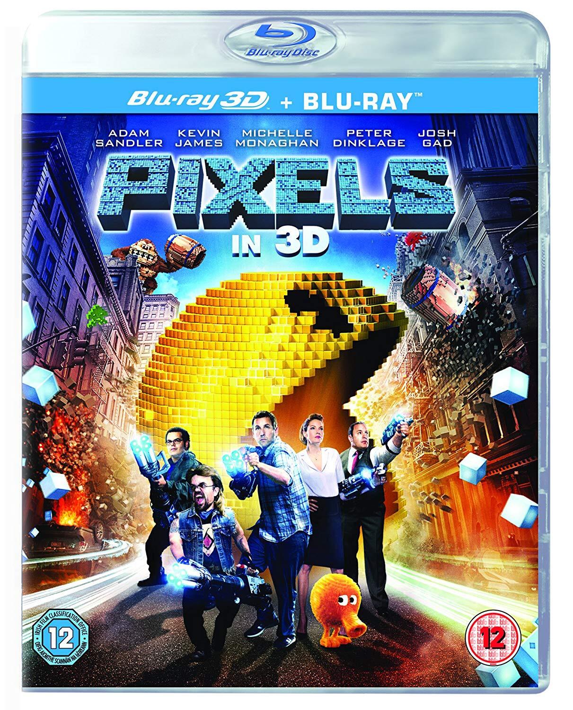 PIXELS. 3D Blu-ray Edition. Staring: Adam Sandler, Kevin James, Peter Dinklage, Josh Gad, Brian Cox, Sean Bean, Michelle Monaghan, Dan Aykroyd & Serena Williams - £3.99 @ 365 Games