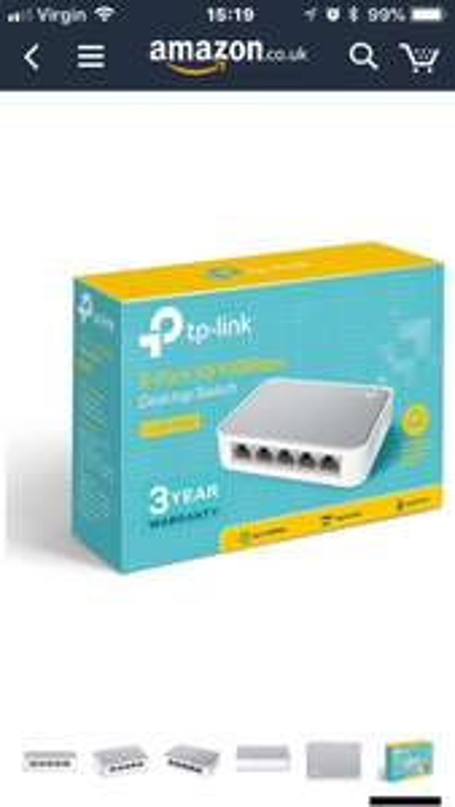 TP-LINK TL-SF1005D V14 5-Ports 10/100 Mbps Desktop Ethernet Switch - £6.98 (Prime) £11.47 (Non Prime) @ Amazon