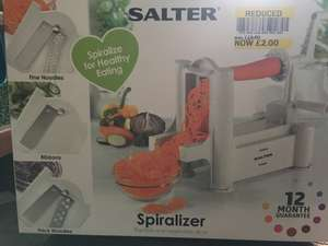 Salter Spiralizer reduced to £2.00 at Tesco, Ashby de la Zouch