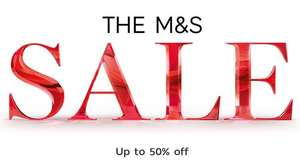 Up to 50% off Sale Now On at Marks and Spencer includes Clothing, School Uniform, Beauty, Home & more