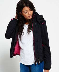 Womens Superdry Hooded Technical Pop Zip SD-Windcheater £28.99 delivered at eBay / Superdry Outlet (plus £5 Off £40 spend)