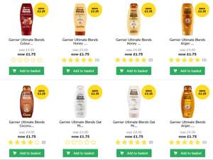 Garnier Ultimate Blends range Shampoo/Conditioner for £1.75 each free O&C online and instore  @Wilko