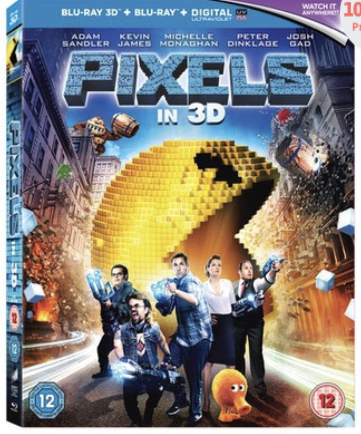 Pixels 3D version Blu-ray + 2D + UV £2.99 New @ Music Magpie