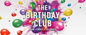 Argos Birthday club ,free to join- sign up for offers.