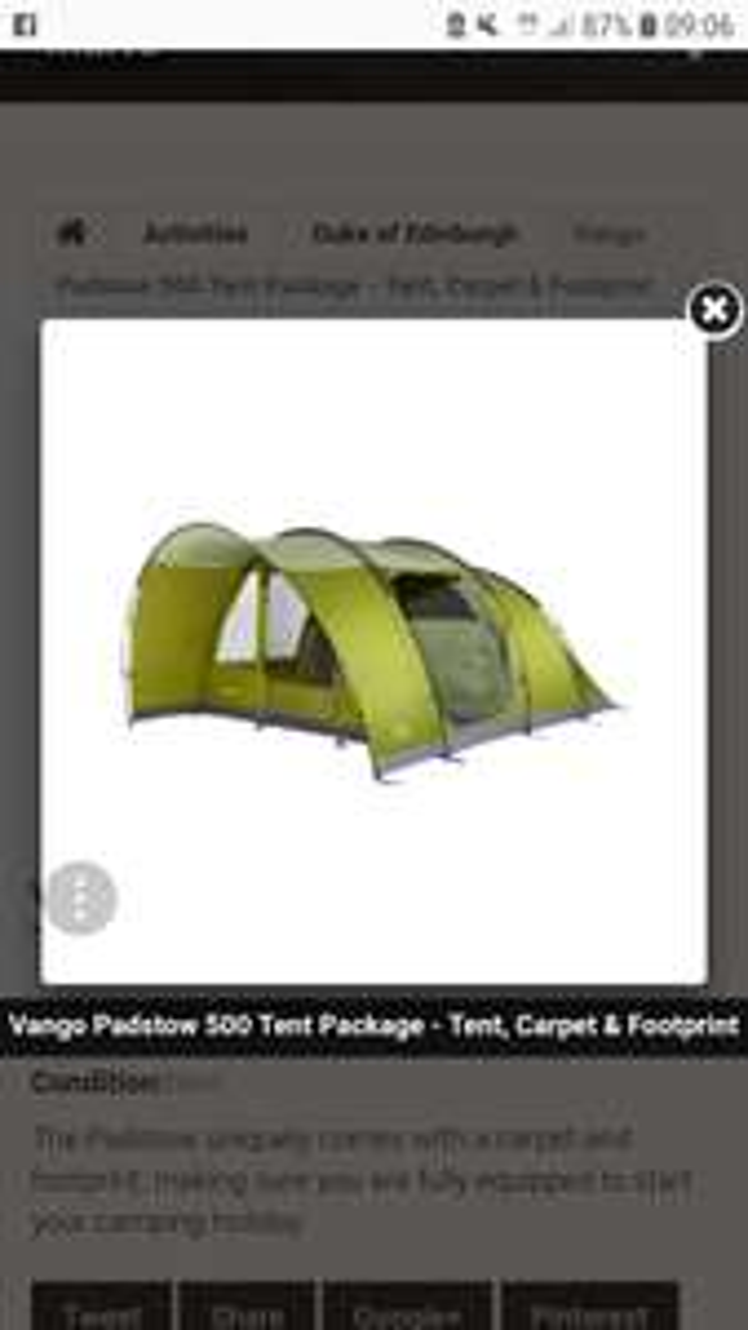 Vango padstow tent package £249.99 summitsonline / Ebay