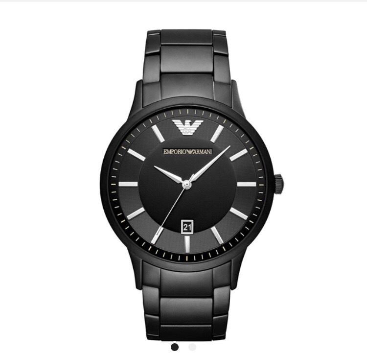 Emporio Armani Black Ip Stainless Steel Bracelet Watch (returns item) - £148.94 delivered @ Bargain crazy