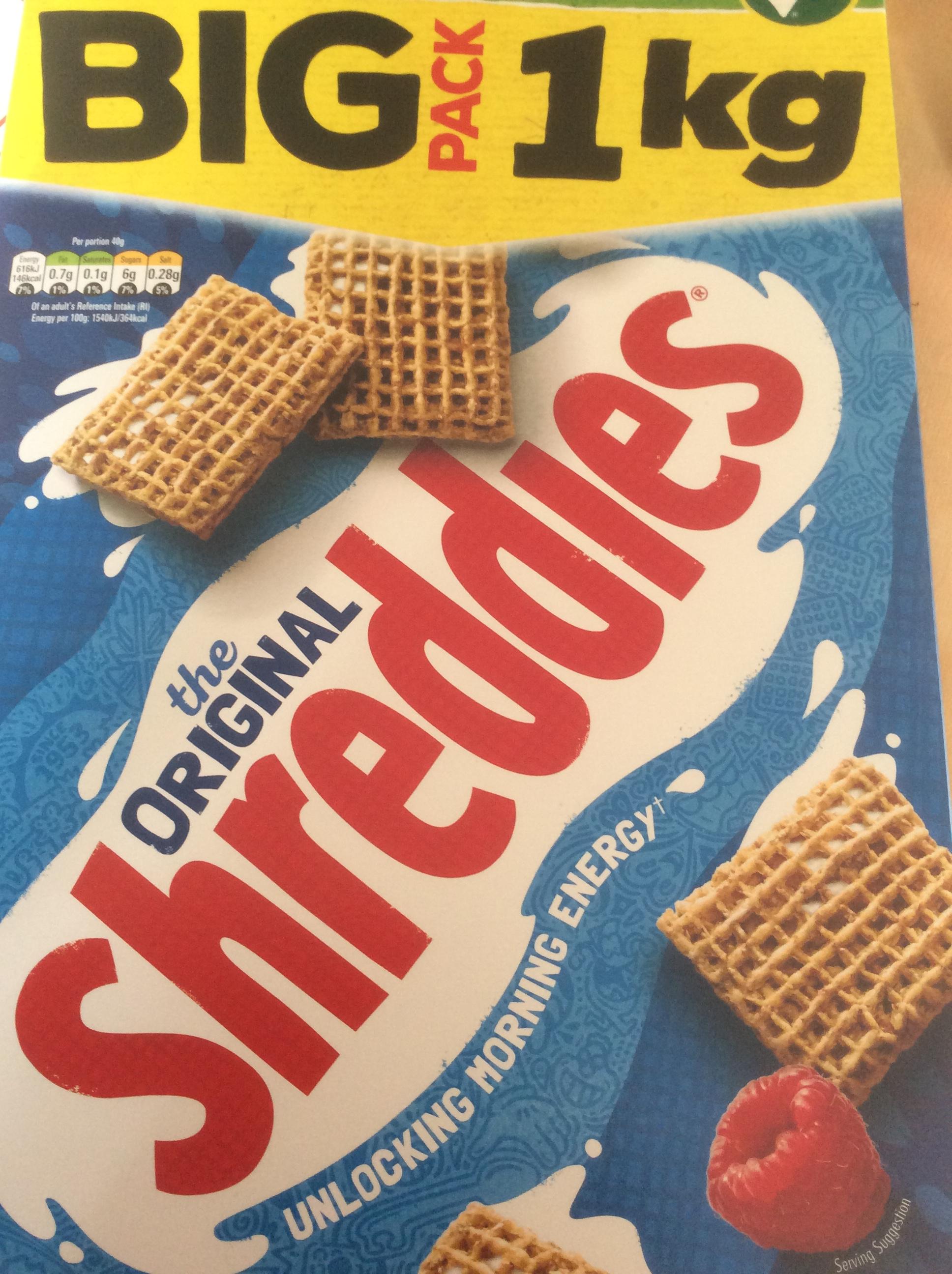 Big 1kg pack of Nestle Shreddies only £2.99 instore Home Bargains