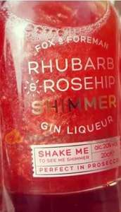 Fox and Foreman Rhubarb and Rosehip gin liqueur 200ml / 20% abv £6 online and instore @ Tesco