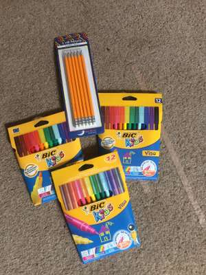 Cheap felts tips and pencils at co-op instore e.g Bic kids 12pk felt tips 4p and 6pk pencils 2p