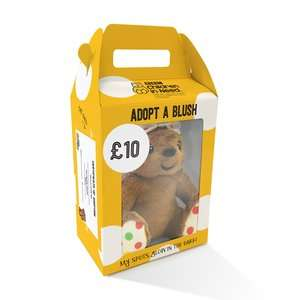 BBC Children In Need - Adopt A Blush with Glow in the Dark Bow / Paw Prints £10 C+C @ Boots