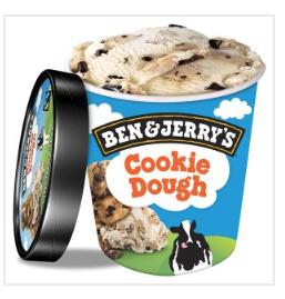 Ben & Jerry's Cookie Dough Ice Cream 500ml 2 for £5 @ Iceland