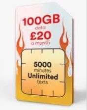 *Now live* SIMO - 100Gb Data / 5000 Mins / Unlimited Texts £20pm on a 12 Month Contract - Total £240 @ Virgin Mobile