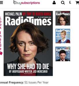 Radio Times - 6 issues for £6 (possibly 10 for £1) @ Buysubscriptions