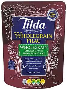 Tilda Steamed Basmati Wholegrain Pilau Rice 250 g (Pack of 6) £4.50 amazon(add on item) and S&S