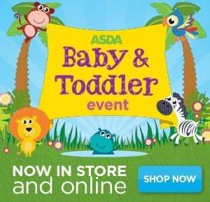 Asda baby & toddler event is now on! In stores & online, lots of baby & toddler items are half priced. See description for details