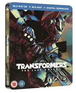Transformers - The Last Knight (hmv Exclusive) Limited Edition Steelbook Includes 2D and 3D £9.99 @ HMV