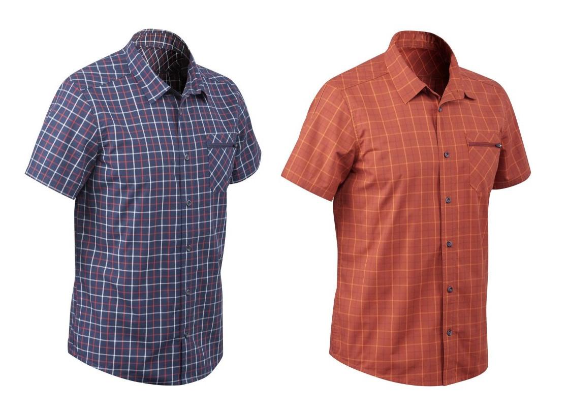 Quechua Travel 50 Men's Short-sleeved Check Shirt only £2.49 @ Decathlon (Free C&C)